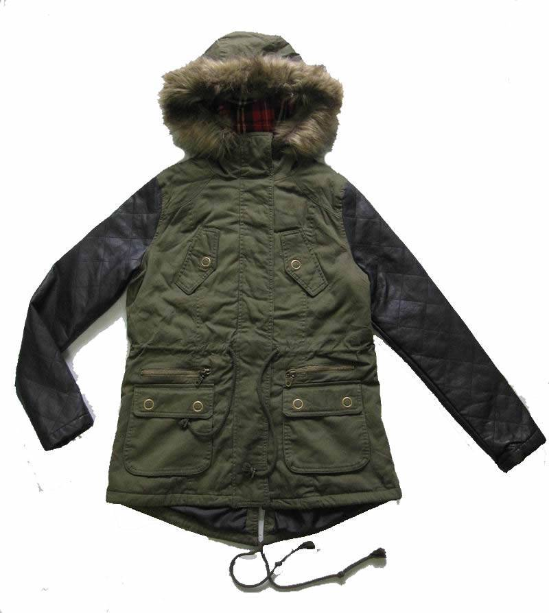 Ladies casual padded jackets