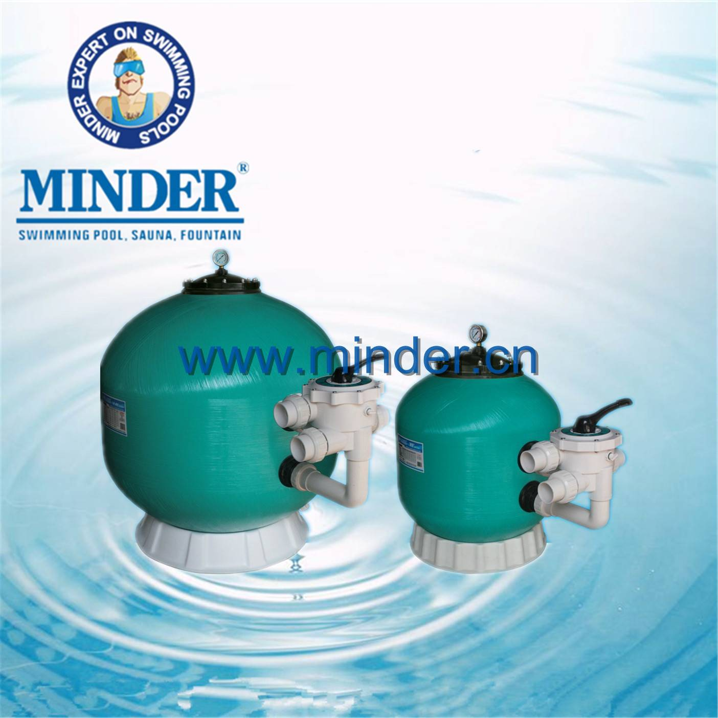 MS series 1.5 valve swimming pool sand filter