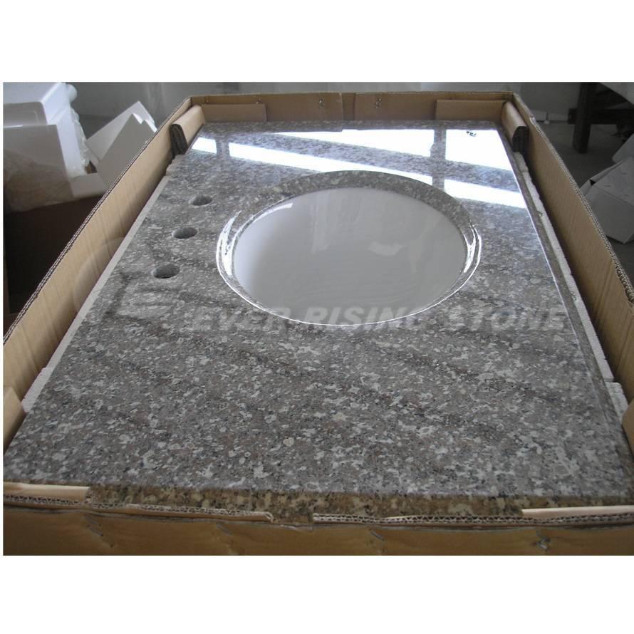G664 Granite Countertops, Granite Vanity Tops, with Ceramic Sink