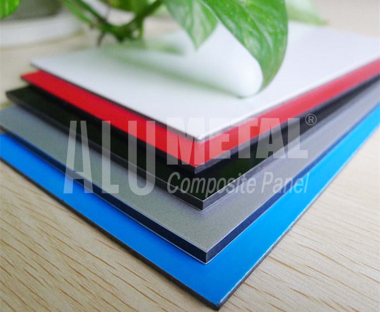 high quality aluminum composite panel with PE coating for wall cladding