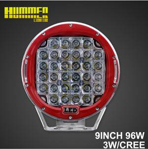 9''96W off road Round led working light used for 4X4 SUV ATV UTV