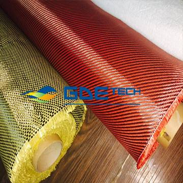 Carbon/kevlar fabric fiber composite fabric hybrid red kevlar and carbon fiber cloth