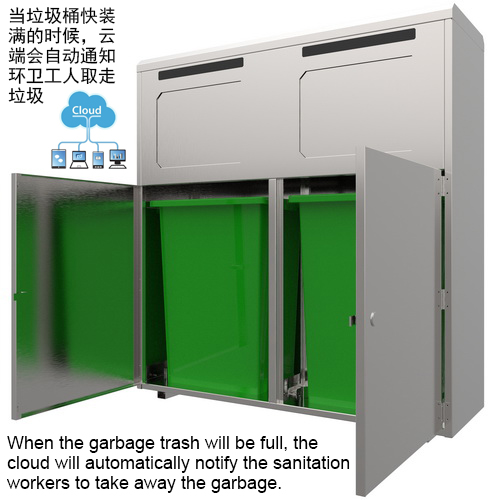Solar trash bin OEM ODM services from Chinese product research and development company