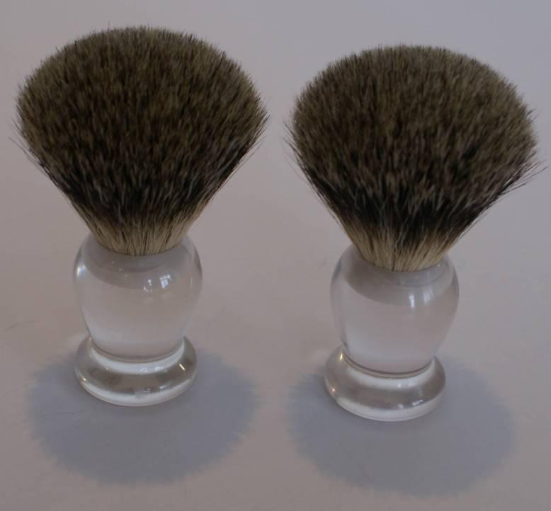 nice silvertip badger hair shaving brushes