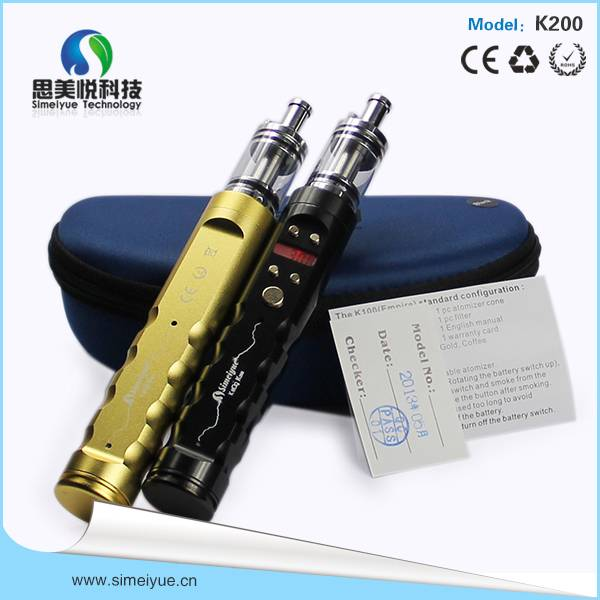 Highly popular K200 e cigarettes variable voltage big capacity battery