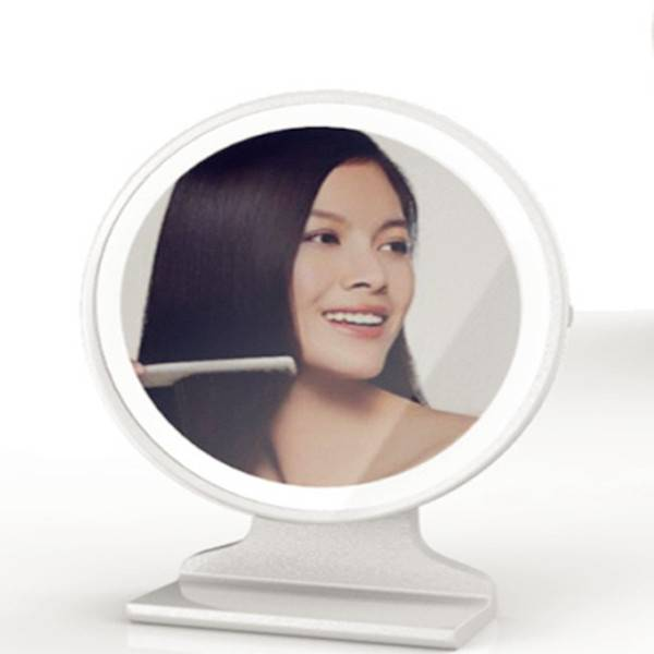 Makeup Mirrors with LED Lights, 3X Magnifying, Desktop Standable, Size: 15018346mm