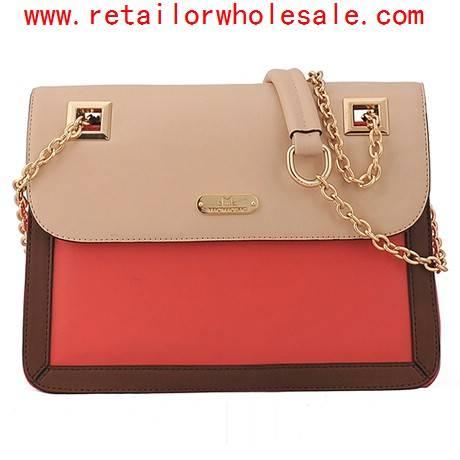 Wholeslae Hot Sale Color-Blocked Hasp Design Chain Shoulder Bags For Women