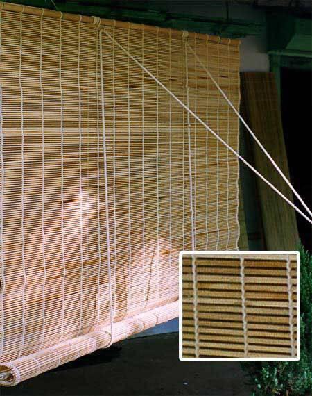 Bamboo blinds open area covering .www.windowfashionsindia.com