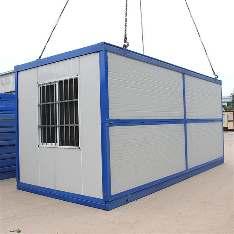 White 20FT Demountable Sandwich Panel Container Home with Bathroom