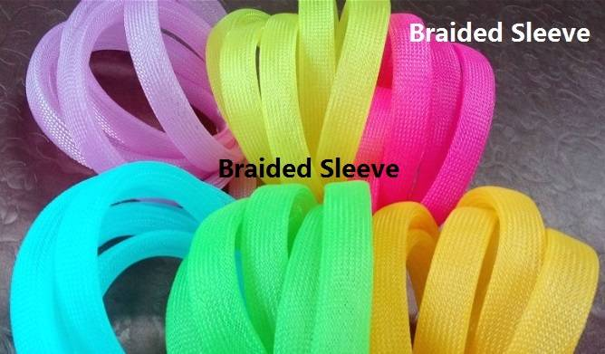 Expandable Cable Protective Sleeve Polyester Flexible Braided Sleeving