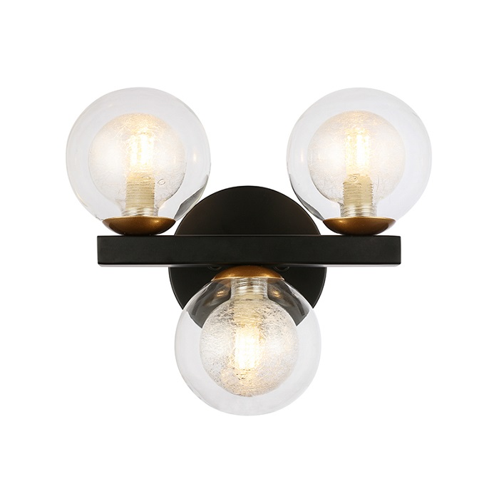 3 Light Bath Simple Hotel Wall Lamp NC6170W-3B