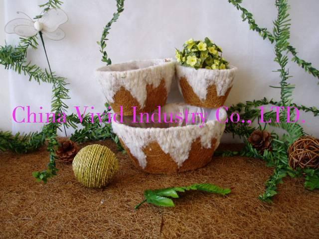 garden flower basket bracket