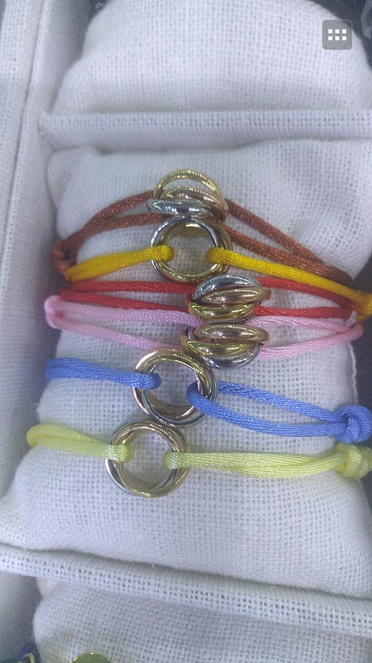 fashion three circle rope hand chain bracelet,mix color wholesale