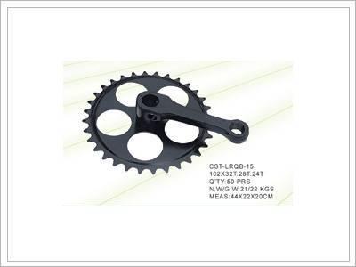 bike crank and chainwheel