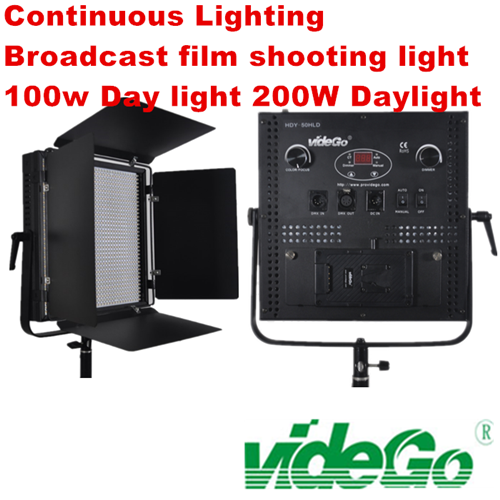 videGo LED Video Panel Light/Daylight/bi-color/Tungsten/broadcast light/50w 1x1 soft video light