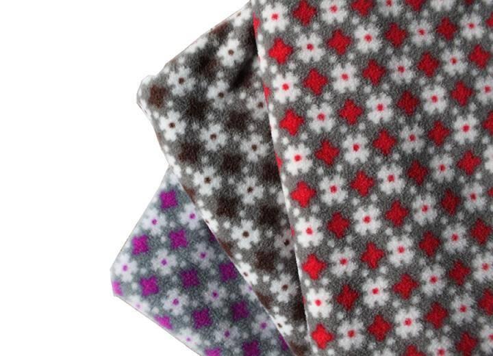 100%polyester knitting printed anti-pilling polar fleece fabric