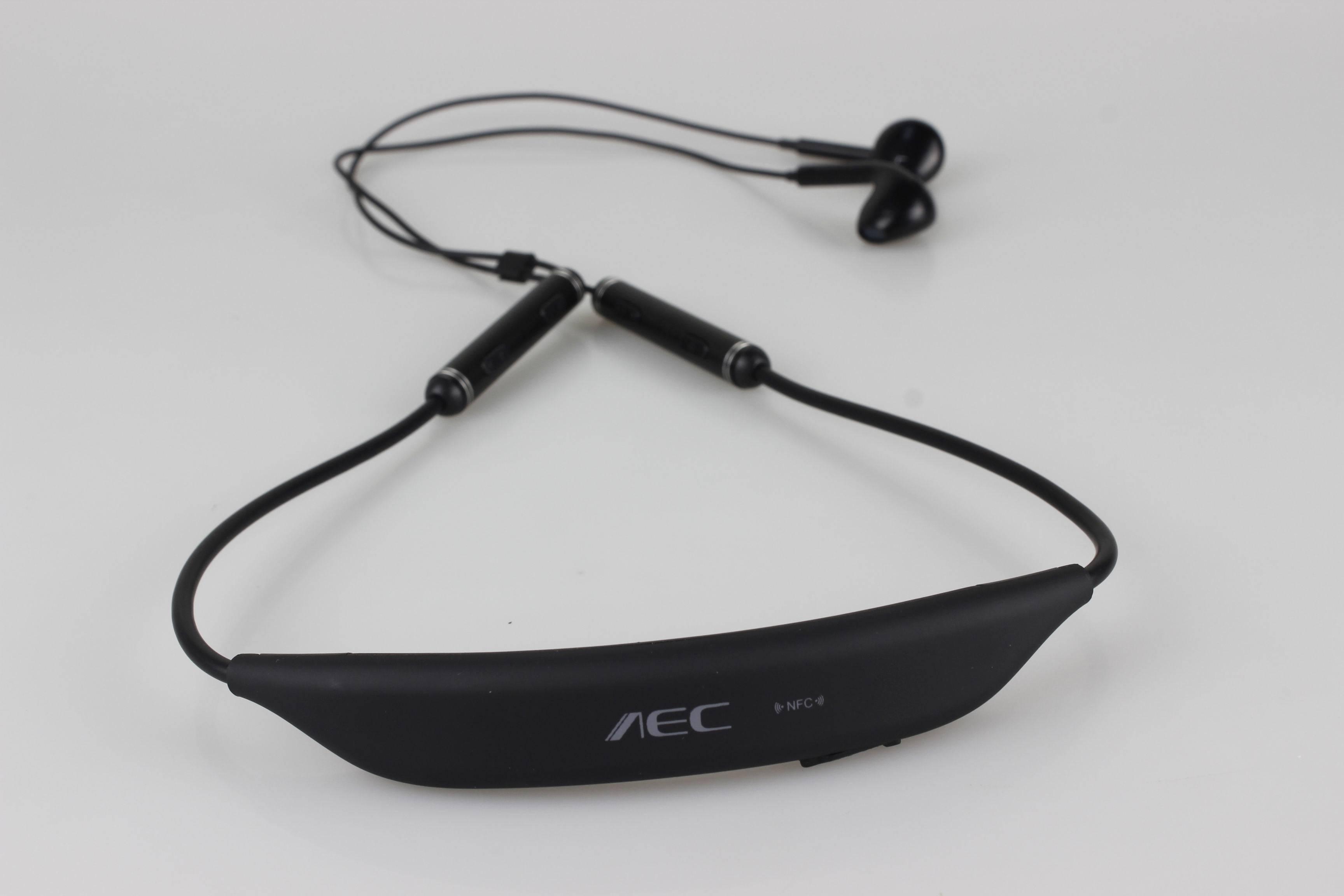 Noise Cancellation Wireless Neckband Hi-Fi Stereo Headset, Bluetooth 4.0 NFC Headphones
