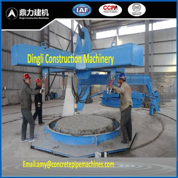 Vertical vibration machine to make concrete pipe ensure the quality