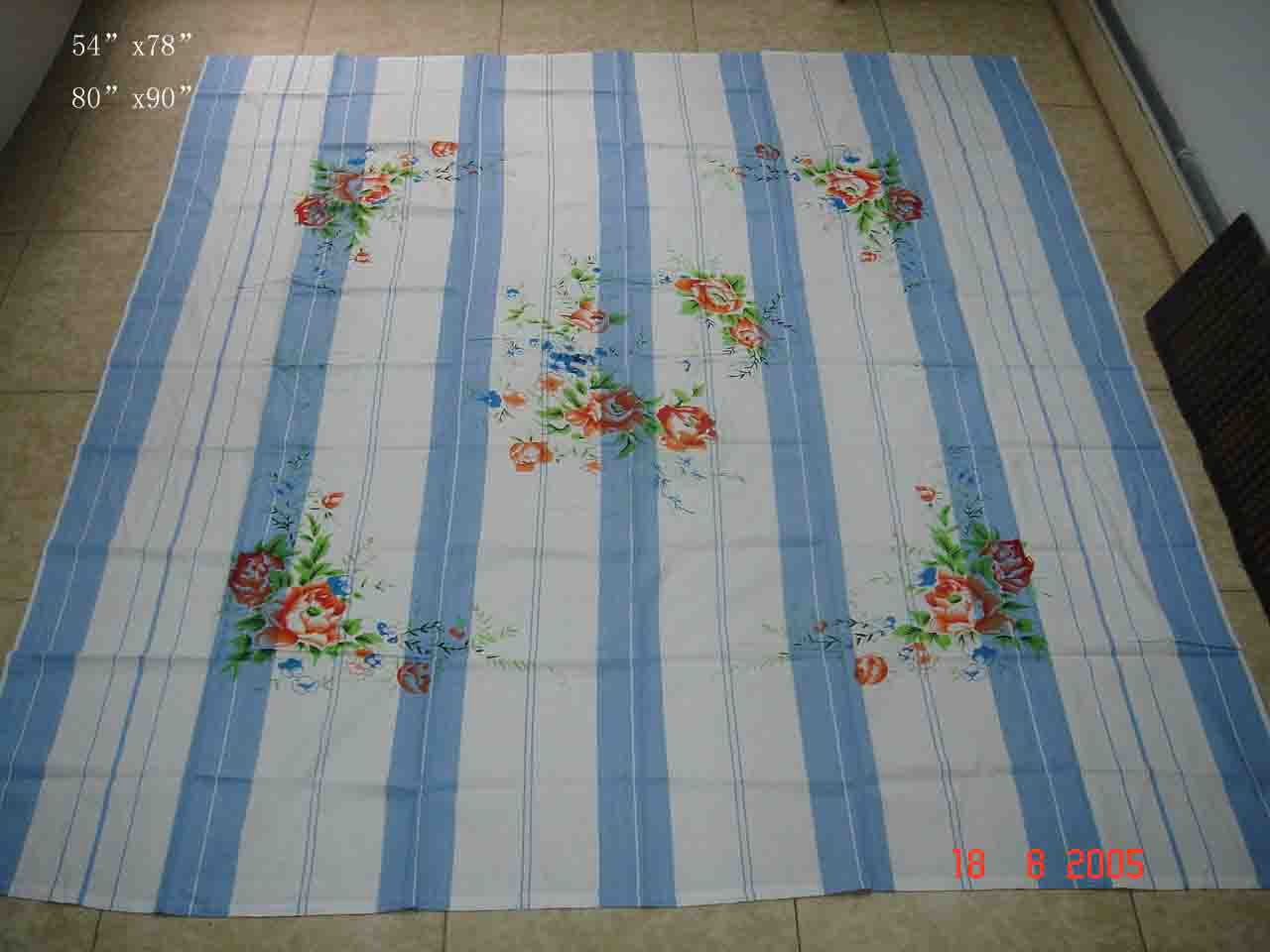 Cotton Yarn Dyed Printed Bed Sheeting