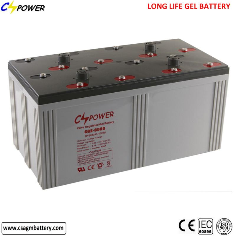 Factory direct solar gel battery 2v 3000ah (CG2-3000)