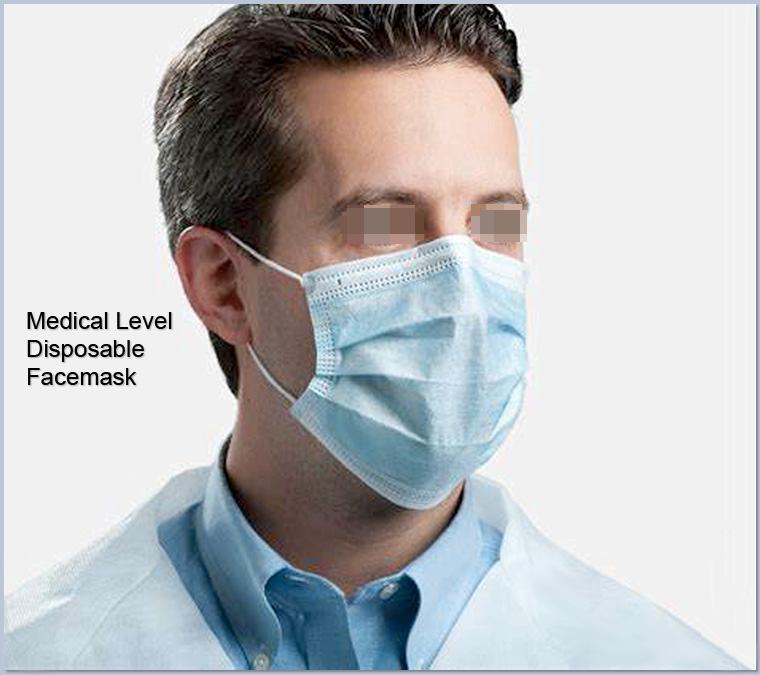 Quality-proved 3 ply Medical level disposable isolation facemasks in bulk nonwoven CE certificates