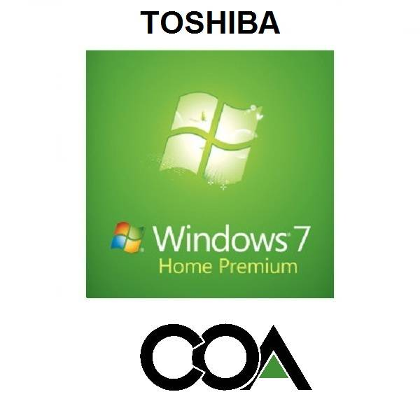 Microsoft Windows 7 Home Premium OA SEA TOSHIBA COA Sticker