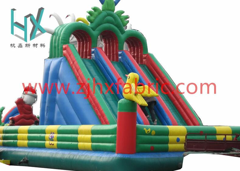 Kids Inflatable Bouncy jumping Castle colorful coated fabric 18oz