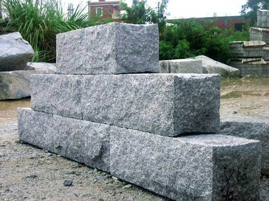 Big granite wall block