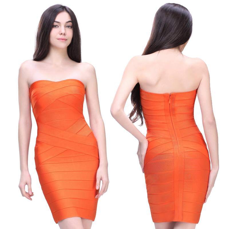 short bodycon bandage dress