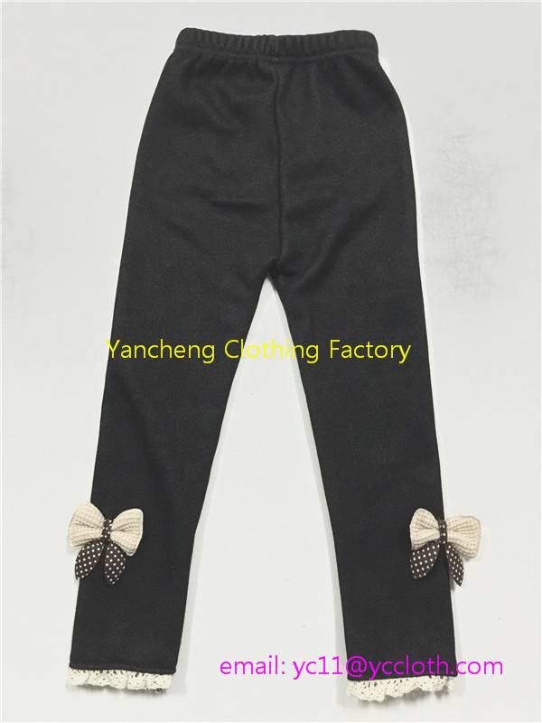 Good quality denim cotton jean leggings wholesale children pants factory