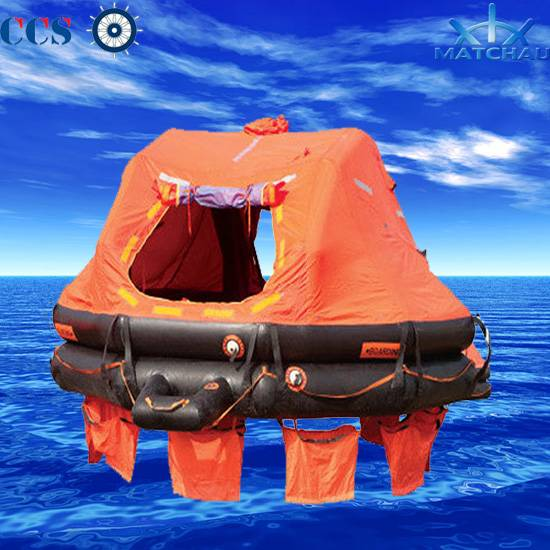 Davit-Launching/Davit-Launched Self-Igniting Inflatable Liferaft with 25/37 Person