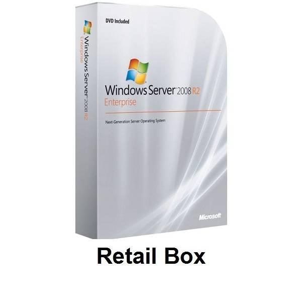 Microsoft Windows Server 2008 R2 Enterprise 1-8cpu 25Clt Retail Box