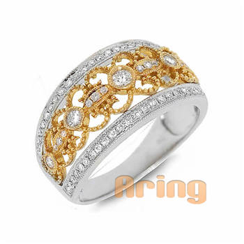 Jewelry Manufacturers Solid 18k 9k 14k Gold Vintage Style Diamond Rings
