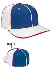 Multicolor Blank Fitted Hats