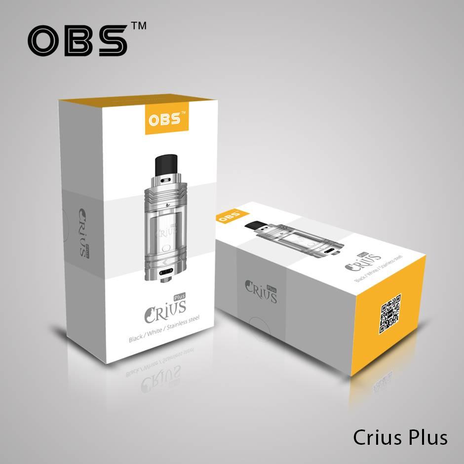 Newest 100% original OBS Crius Plus RTA Rebuildable OBS Crius Plus Tank Atomizer