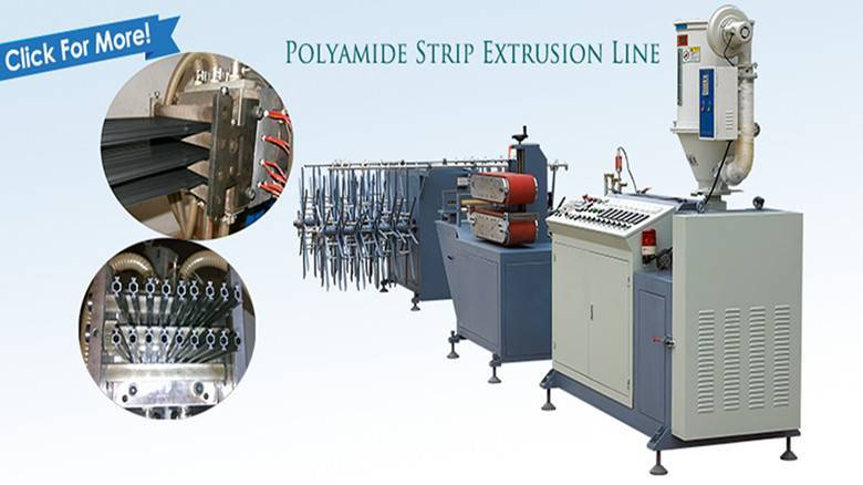 Nylon PA66 strip extrusion line