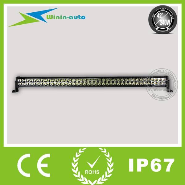 42 240W Double Row Cree LED Work Light Bar 16500Lumen WI9021-240