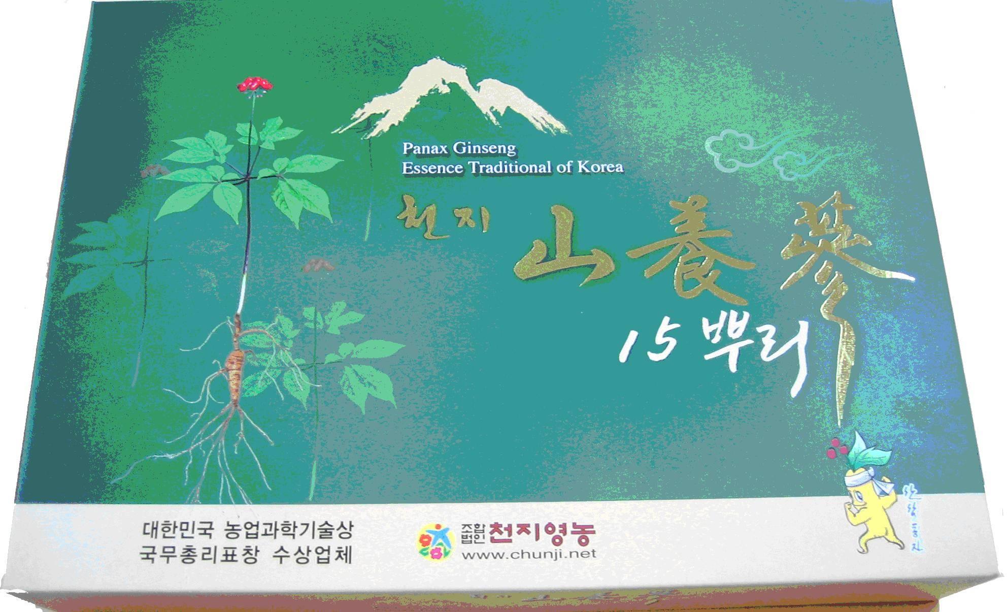 Chunji Wild ginseng(Sanyangsam) 15 roots