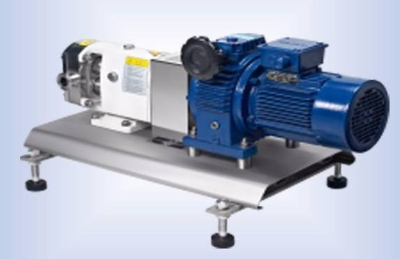 Rotary lobe syrup pump with gearbox