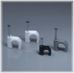 wenzhou flat nylon cable clips, PE,PP round,square,hook nail clip