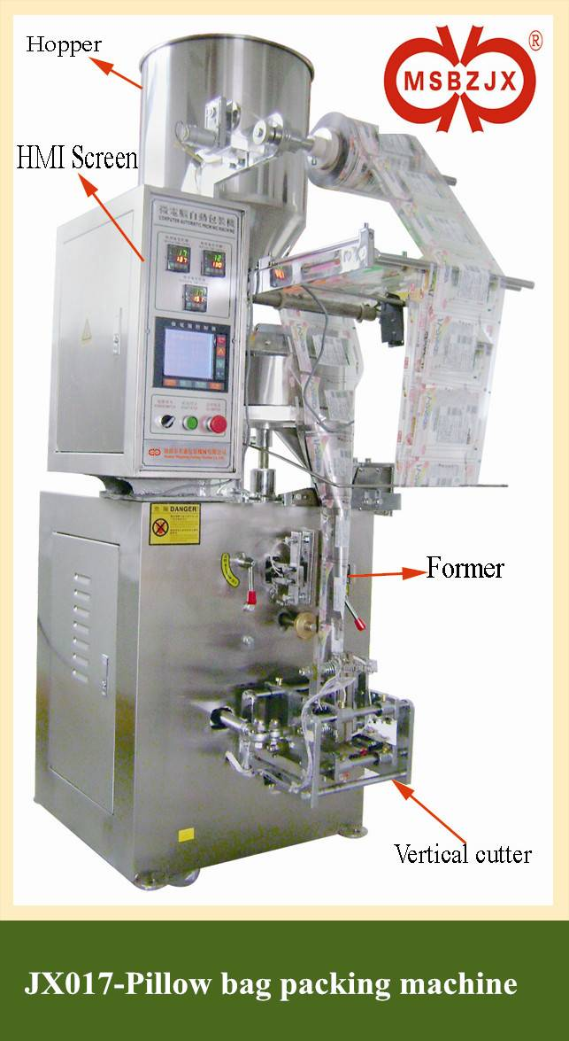 JX017-Fully Automatic Four-side Seal pillow bag Packaging Machinery