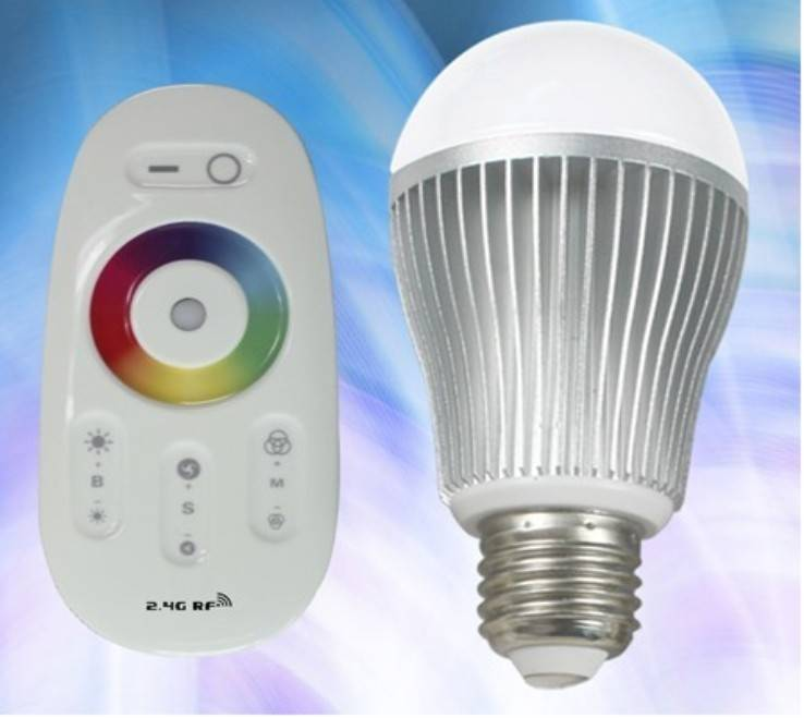 RF full touch RGB led bulb 2.4G