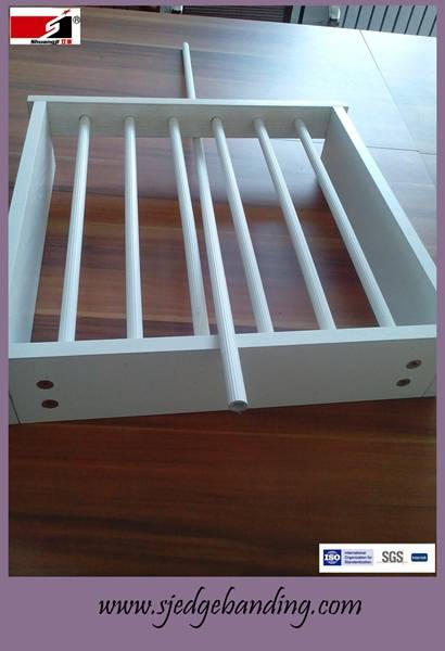 pvc profiles pipe for cabinet decoratiion