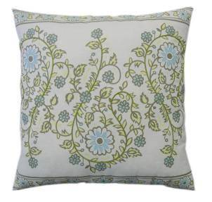 Serene Antique-Printed w/Emb. Pillow