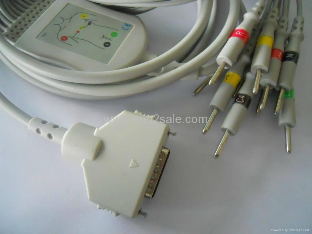 Fukuda FX-101 one-piece 10-Lead EKG cable