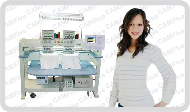 Industrial Embroidery Machine 02 Head 12 Color Sequin Logos Names Design CAMFive