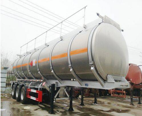 40cbm Light weight Tri axle aluminum fuel tank trailer