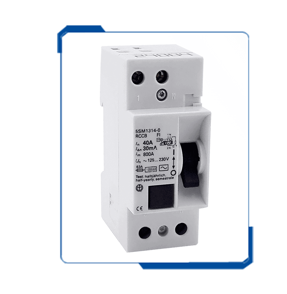 5SM1 2P rccb circuit breaker residual current device