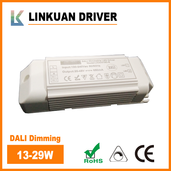 DALI dimming LED driver 29W with block connector LKAD018D-D