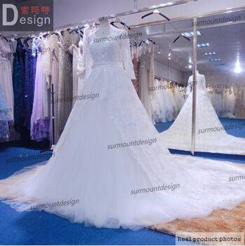 New Arrival Ball Gown Floor Length Long Sleeve Lace Alibaba Wedding Dresses 2015 China